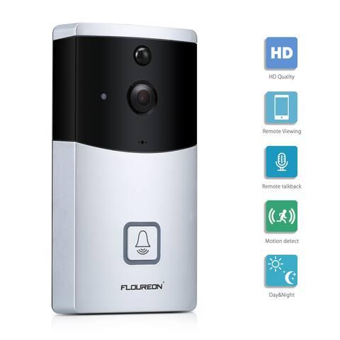 FLOUREON WIFI Video Doorbell, Smart Doorbell 720P HD Security Camera