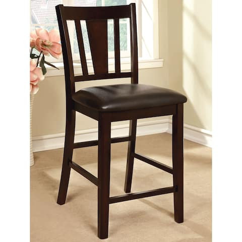 Furniture of America Vays Espresso Counter Height Chairs (Set of 2)