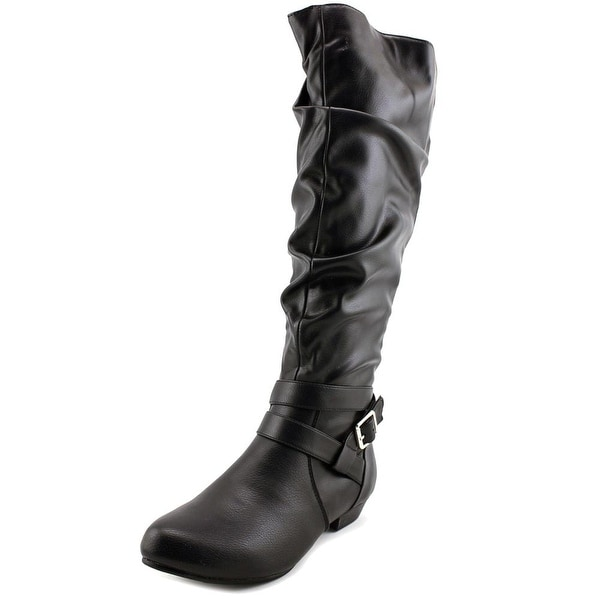 Fergalicious Lara Wide Calf Women Black Boots