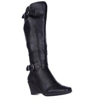 Aerosoles Wonderful Expandable Calf Comfort Knee-High Boots, Black
