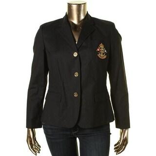 Ralph Lauren Womens Pocket w/ Patch Non-Vented Three-Button Blazer - XL