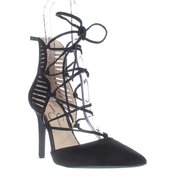Jessica Simpson Cynessa Lace Up Dress Pumps, Black
