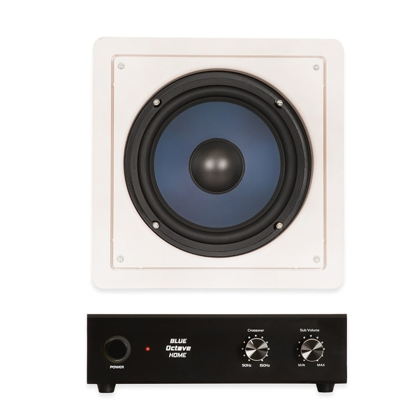shop blue octave rw8 in wall 8 passive subwoofer speaker home theater sub and amp free. Black Bedroom Furniture Sets. Home Design Ideas