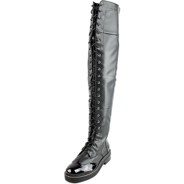 LFL Craft Women Round Toe Synthetic Black Over the Knee Boot