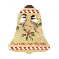 "Ne'Qwa ""First Christmas Together"" Hand-Painted Blown Glass Christmas Ornament #7151139"