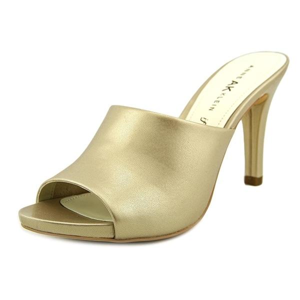 Anne Klein AK Objective Women Open Toe Synthetic Slides Sandal