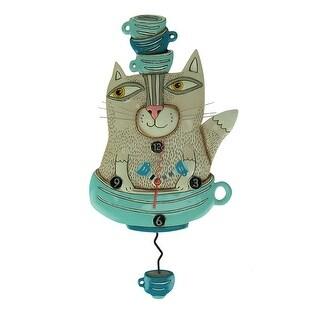 Allen Designs Teacat Pendulum Wall Clock - 15 X 8 X 1.25 inches