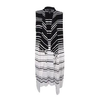 INC International Concepts Women's Plus Size Striped Knit Vest