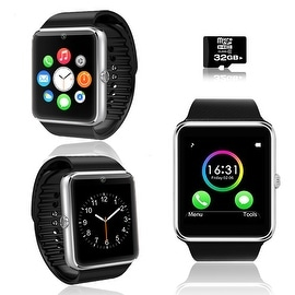 Indigi® 2-in-1 GT8 Bluetooth SmartWatch & Phone w/ Pedometer + Sleep Monitor + Camera w/ 32gb microSD Included