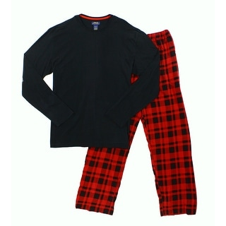Polo Ralph Lauren NEW Black Red Mens Size XL Shirt Plaid Pajama Sets