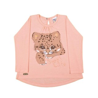 Toddler Girl Shirt Long Sleeve Kitten Graphic Tee Pulla Bulla Sizes 1-3 Years (3 options available)