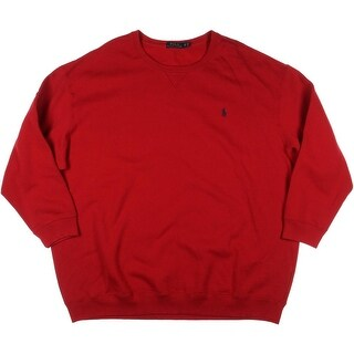 Polo Ralph Lauren Mens Big & Tall Fleece Lined Signature Crew Sweatshirt - 3xb