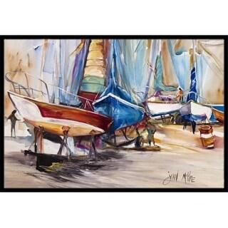 Carolines Treasures JMK1066JMAT On The Hill Sailboats Indoor & Outdoor Mat 24 x 36 in.
