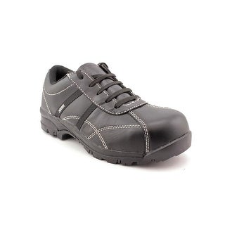 Avenger A7151 Women W Round Toe Leather Black Work Shoe