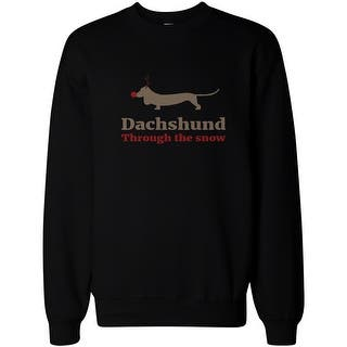 Dachshund through the Snow Funny Christmas Pullover Sweatshirt X-mas Gift|https://ak1.ostkcdn.com/images/products/is/images/direct/55170da848bbdbe1e14edd5817a1df2354e620ed/Dachshund-through-the-Snow-Funny-Christmas-Pullover-Sweatshirt-X-mas-Gift.jpg?impolicy=medium