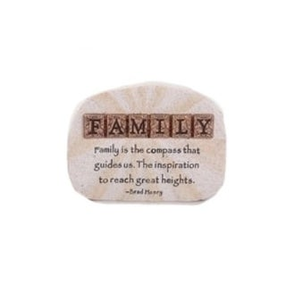 "4"" Words of Hope Inspirational ""Family"" Paper Weight Desk Plaque"