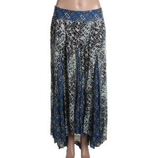 Free People Womens Hi-Low Printed A-Line Skirt