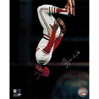 Ozzie Smith Signed Cardinals Flip 8 x 10 Photo