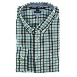 Tommy Hilfiger Mens Button-Down Shirt Classic Fit Cotton