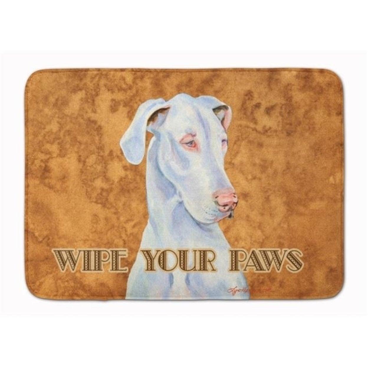Carolines Treasures Lh9444rug White Great Dane Wipe Your Paws Machine Washable Memory Foam Mat Overstock 27713881