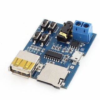 MP3 Free Lossless Audio Decode Module Board with Amplifier USB Female