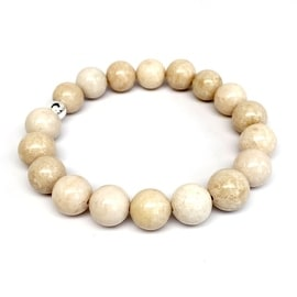 Ivory River Stone 'Eternal' stretch bracelet Sterling Silver