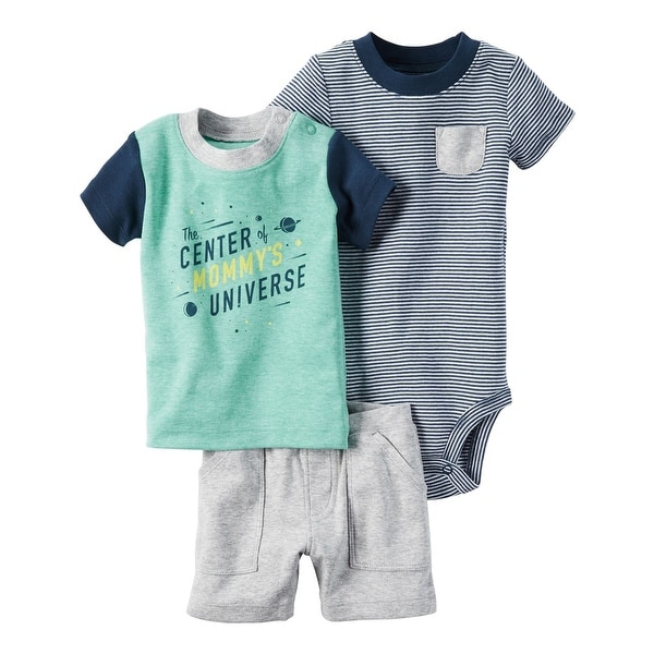 817538640 Shop Carter's Baby Boys' 3-Piece Babysoft Short Set, 3 Months - turquoise -  Free Shipping On Orders Over $45 - Overstock.com - 18314659