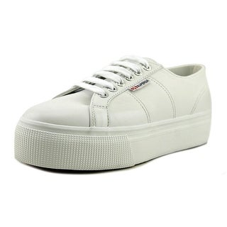 Superga 2790 Auleaw Round Toe Leather Sneakers