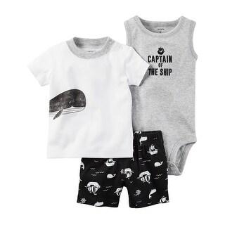 Carter's Baby Boys' 3 Piece Babysoft Short Set, 3 Months