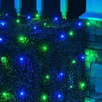 Wintergreen Lighting 72477 100 Bulb 4Ft x 6 Ft LED Decorative Holiday Net Light