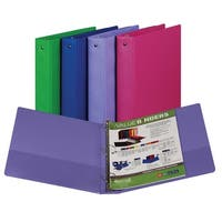 Samsill Fashion Color Value Storage Binder, 1-1/2 in, 11 X 8-1/2 in, Assorted
