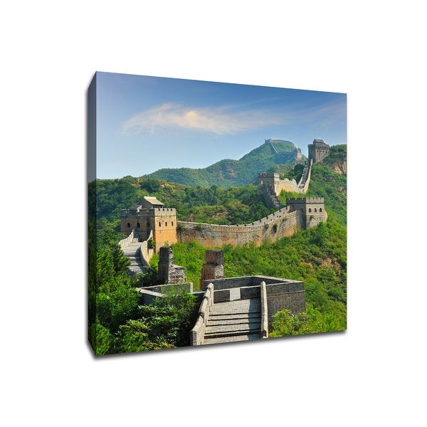 Great Wall of China - China - Global Landmarks - 20x20 Gallery Wrapped Canvas