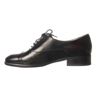 L.K. Bennett Mens Piper Leather Lace Up Dress, Black, Size 10.5