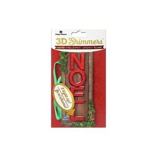 Paper House Sticker 3D LED Shimmer Noel