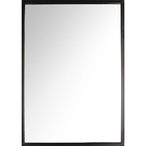 Shop 35 X24 Framed Vanity Wall Mirror Black Rectangle Hanging Modern Industrial Large Long Metal Mirrors For Bathroom Entryway On Sale Overstock 31893971