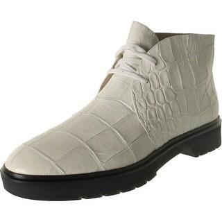 Alexander Wang Womens Lee Leather Croc Print Chukka Boots - 38