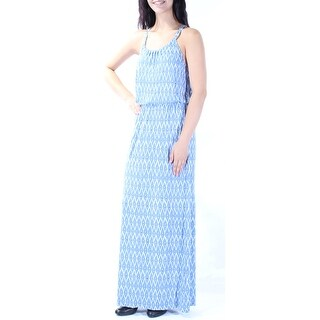 JOIE $208 Womens New 0597 Blue Geometric Sleeveless Empire Waist Dress M B+B