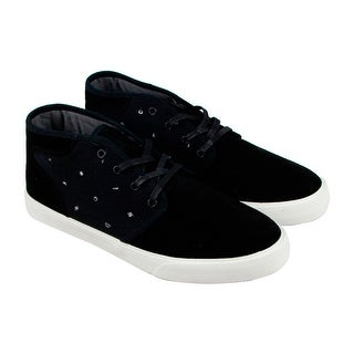 Dc Sudio Mid Se Mens Black Leather Lace Up Lace Up Sneakers Shoes