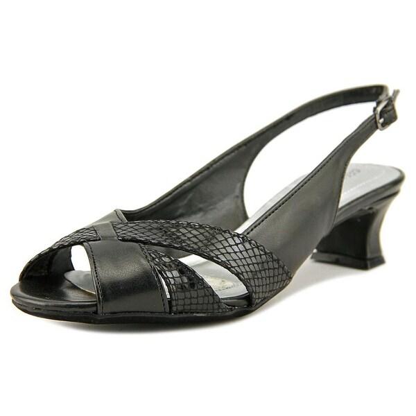 Easy Street Ariel Women Round Toe Synthetic Black Slingback Heel