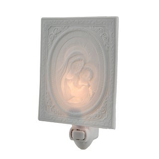 Mary Holding Baby Jesus White Porcelain Night Light