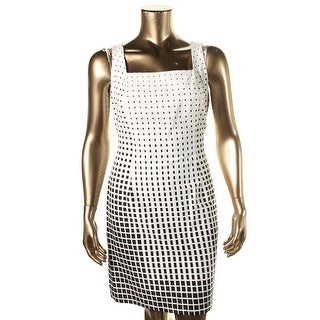American Living Womens Sleeveless Square Neck Wear to Work Dress - 10