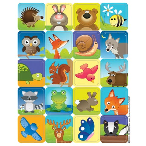 Woodland Creatures Theme Stickers, 120 Per Pack, 12 Packs