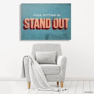 IKONICK Stand Out Canvas Art
