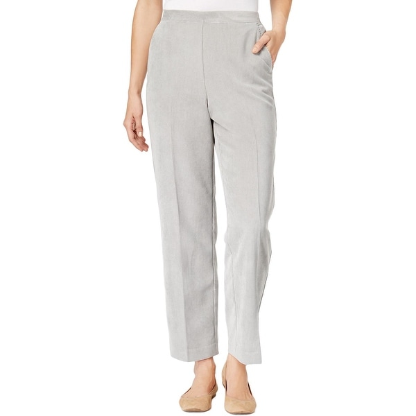 Alfred Dunner Womens Plus Corduroy Pants Traditional Fit Comfort Waist