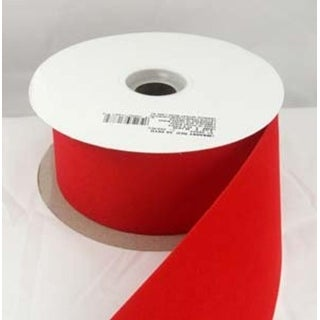 "Versatile Velvet Red Indoor/Outdoor Wired Craft Ribbon 2"" x 50 Yards"
