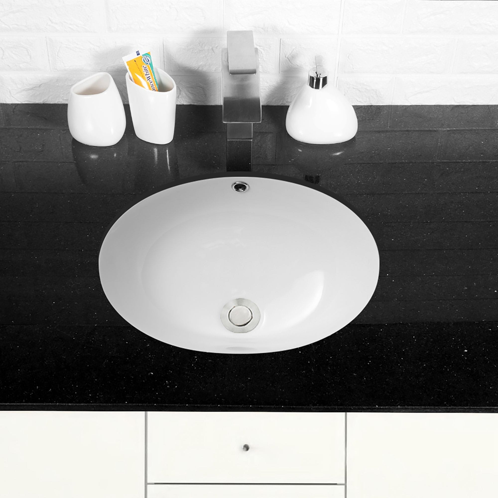 Round Undermount Bathroom Sink With Overflow Overstock 31420596