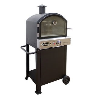 AZ Patio PSL-SPOC Propane Pizza Oven, 16000 BTU - Black