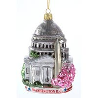 Kurt Adler Washington DC Cityscape  Holiday Ornament Glass