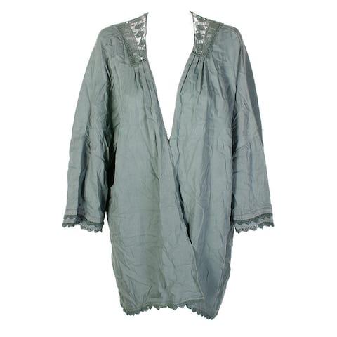 Billy To Green Crochet Inset Kimono XL