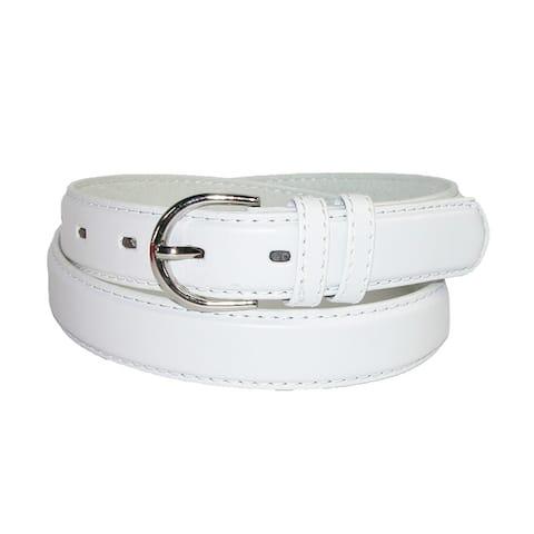 CTM® Women's Leather 1 1/8 Inch Dress Belt